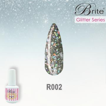 Brite Glitter Gel Polish - R002