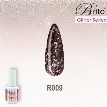 Brite Glitter Gel Polish - R009