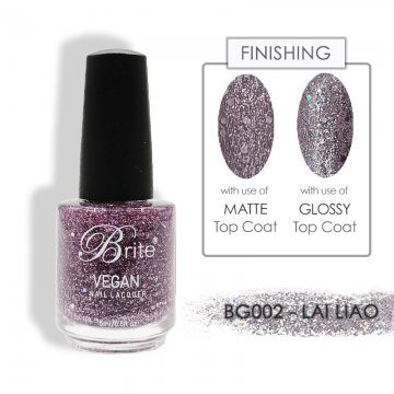 Brite Vegan Nail Polish (Glitter) - BG002